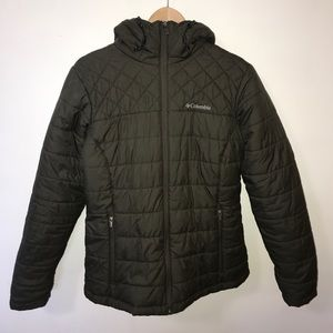 OLIVE GREEN COLUMBIA PUFFER JACKET
